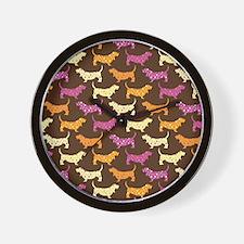 Samba Bassets Wall Clock