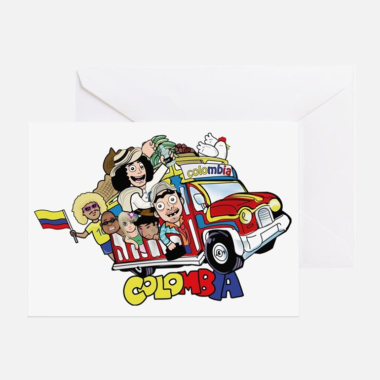 Colombian Chiva Greeting Card