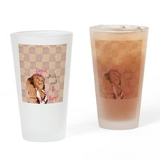 Be Merry Hula Girl Rectangle Drinking Glass