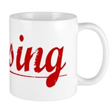 Lansing, Vintage Red Mug