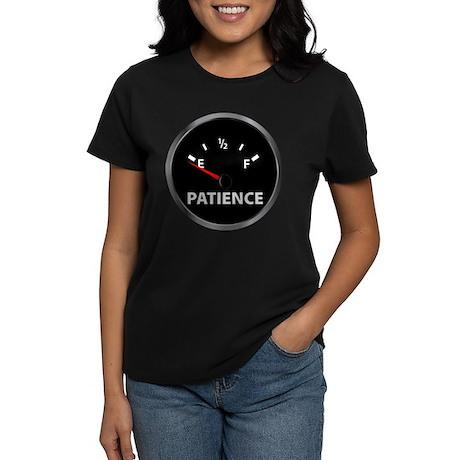 Out of Patience Fuel Gauge Women's Dark T-Shirt