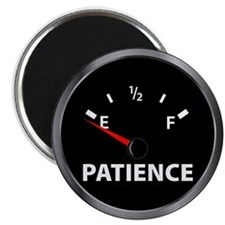 "Out of Patience Fuel Gauge 2.25"" Magnet (10 pack)"