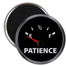 Out of Patience Fuel Gauge Magnet