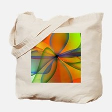 Orange Swirl Flower Tote Bag