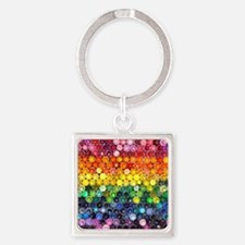 Color Full Square Keychain