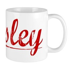 Lesley, Vintage Red Small Mug