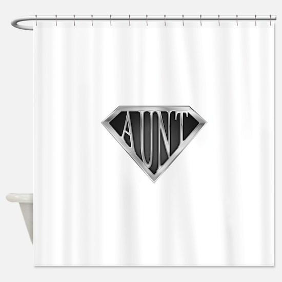 Super Aunt in Chrome Shower Curtain