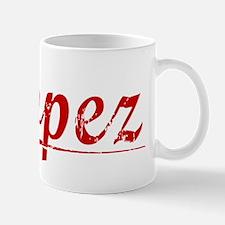 Lopez, Vintage Red Mug
