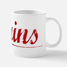 Mains, Vintage Red Mug