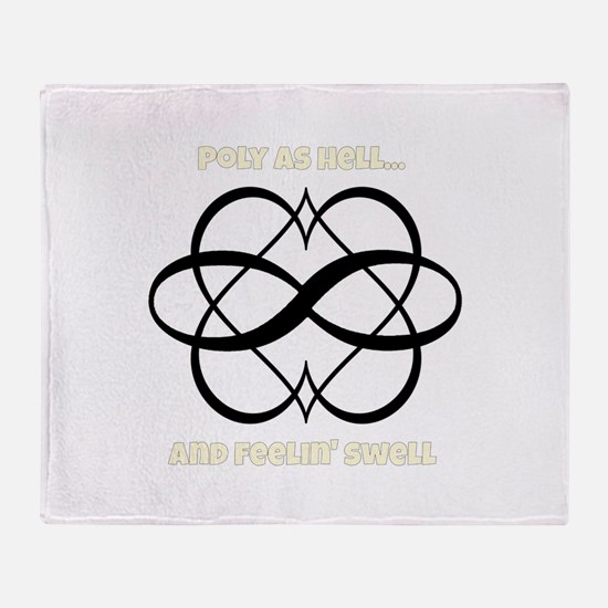 Poly As Hell Throw Blanket