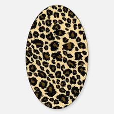 Leopard Fur Print Sticker (Oval)