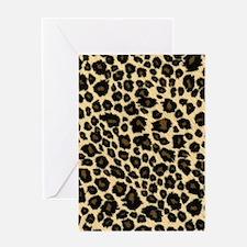 Leopard Fur Print Greeting Card