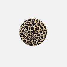 Leopard Fur Print Mini Button