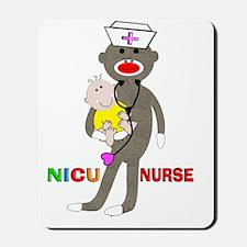 NICU Nurse sock monkey Mousepad