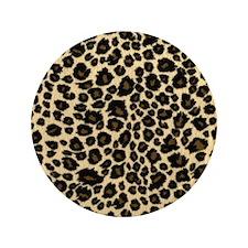 """Leopard Print 3.5"""" Button"""