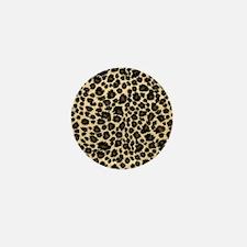 Leopard Print Mini Button