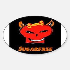 SUGARFREE ~ GIRL Oval Decal