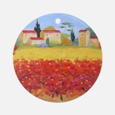 Vines Painting Round Ornament