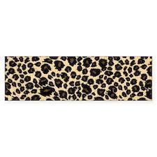 Leopard Print Bumper Sticker