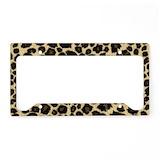 Leopard License Plate Frames