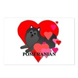 Cartoon pomeranian Postcards