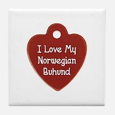 Love My Buhund Tile Coaster