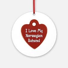 Love My Buhund Ornament (Round)