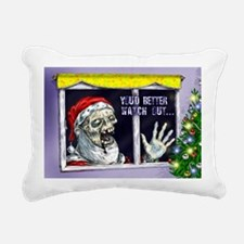 Zombie Santa is coming Rectangular Canvas Pillow