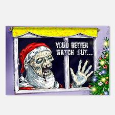 Zombie Santa is coming Postcards (Package of 8)