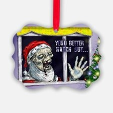 Zombie Santa is coming Ornament