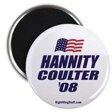 """Hannity / Coulter President 2008 2.25"""" Magnet (10"""