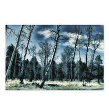 ghostly blue Postcards (Package of 8)
