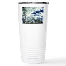 peering thru the clouds Travel Coffee Mug