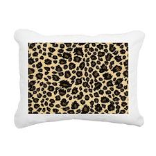 Leopard Print Rectangular Canvas Pillow
