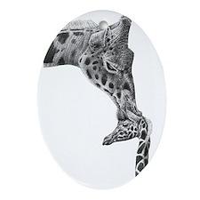 Giraffe and Calf Serving Tray Oval Ornament