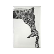 Giraffe and Calf Serving Tray Rectangle Magnet