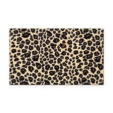 Leopard Print Rectangle Car Magnet