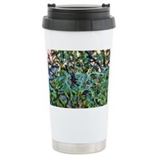 teal holly Travel Mug
