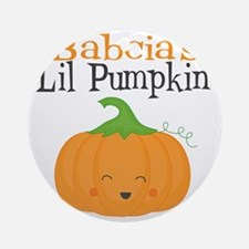 Babcias Little Pumpkin Round Ornament