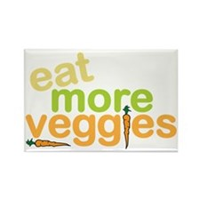 Eat More Veggies Rectangle Magnet
