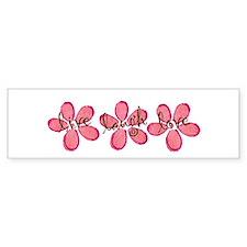 live, laugh, love flowers (pink) Bumper Car Sticker