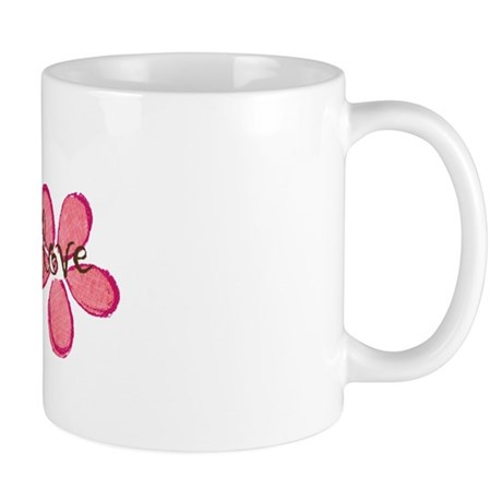 live, laugh, love flowers (pink) Mug