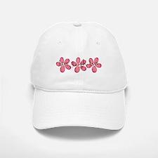 live, laugh, love flowers (pink) Baseball Baseball Cap