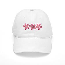live, laugh, love flowers (pink) Baseball Cap