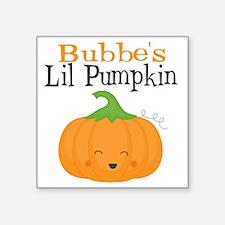 "Bubbes Little Pumpkin Square Sticker 3"" x 3"""