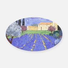 Lavender Farm Oval Car Magnet