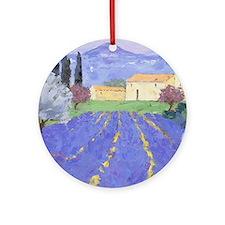 Lavender Farm Round Ornament