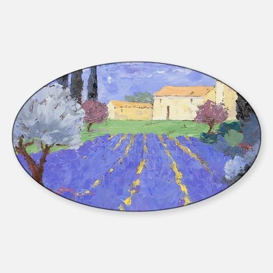 Lavender Farm Sticker (Oval)
