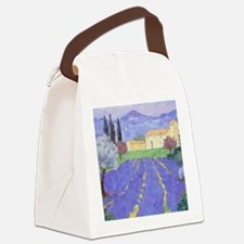 Lavender Farm Canvas Lunch Bag