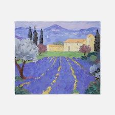 Lavender Farm Throw Blanket
